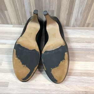Franco Sarto Shoes - Franco Sarato    Black Leather Comfortable Pumps 9